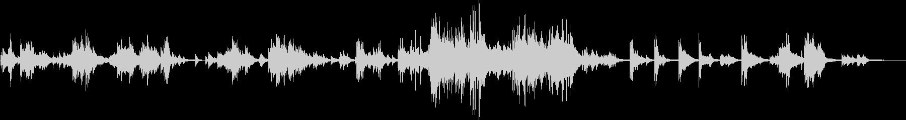 感動的な美しいピアノバラード(温かい)の未再生の波形