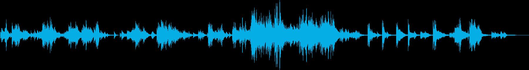 感動的な美しいピアノバラード(温かい)の再生済みの波形