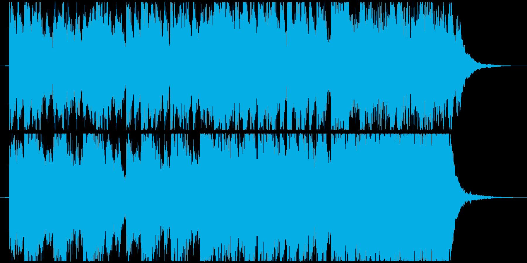 緊迫、迫り来る恐怖をイメージしたBGMの再生済みの波形