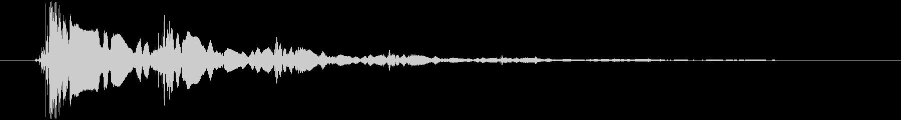 短いエレキギターのロゴの未再生の波形