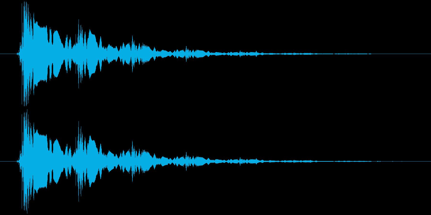 短いエレキギターのロゴの再生済みの波形