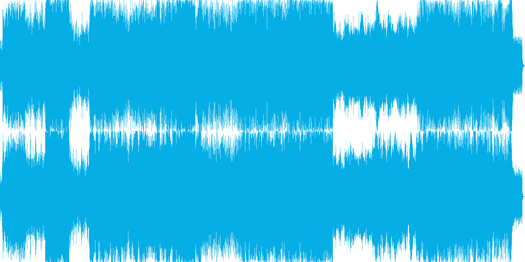 ドラマチックなバトルBGMの再生済みの波形
