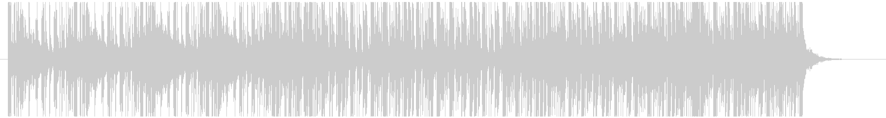 ヴィンテージ感あるフアンク系ジングルの未再生の波形