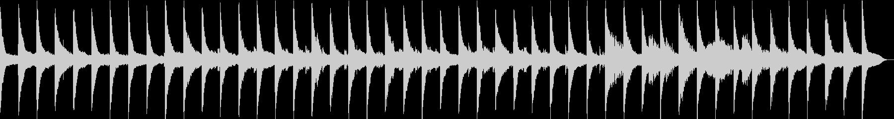 ゆっくり流れる時間、波音×ピアノ×ギターの未再生の波形