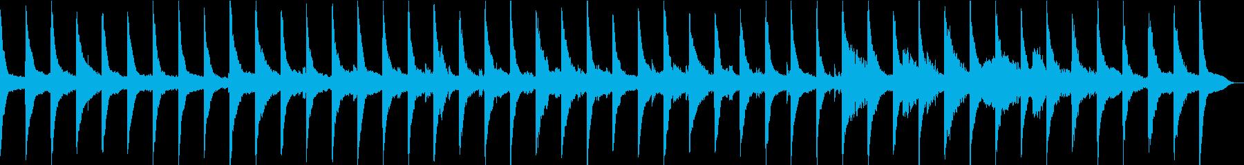 ゆっくり流れる時間、波音×ピアノ×ギターの再生済みの波形