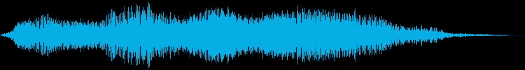 トラクター作業の再生済みの波形
