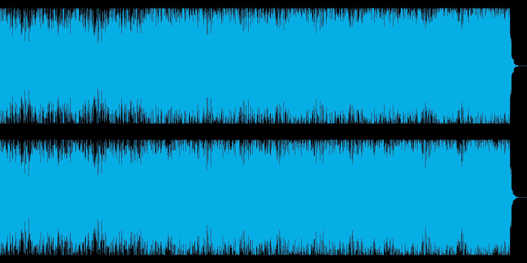 ダークなギターインストの再生済みの波形
