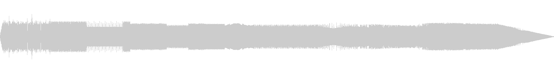SE エッジの効いた電子音の未再生の波形