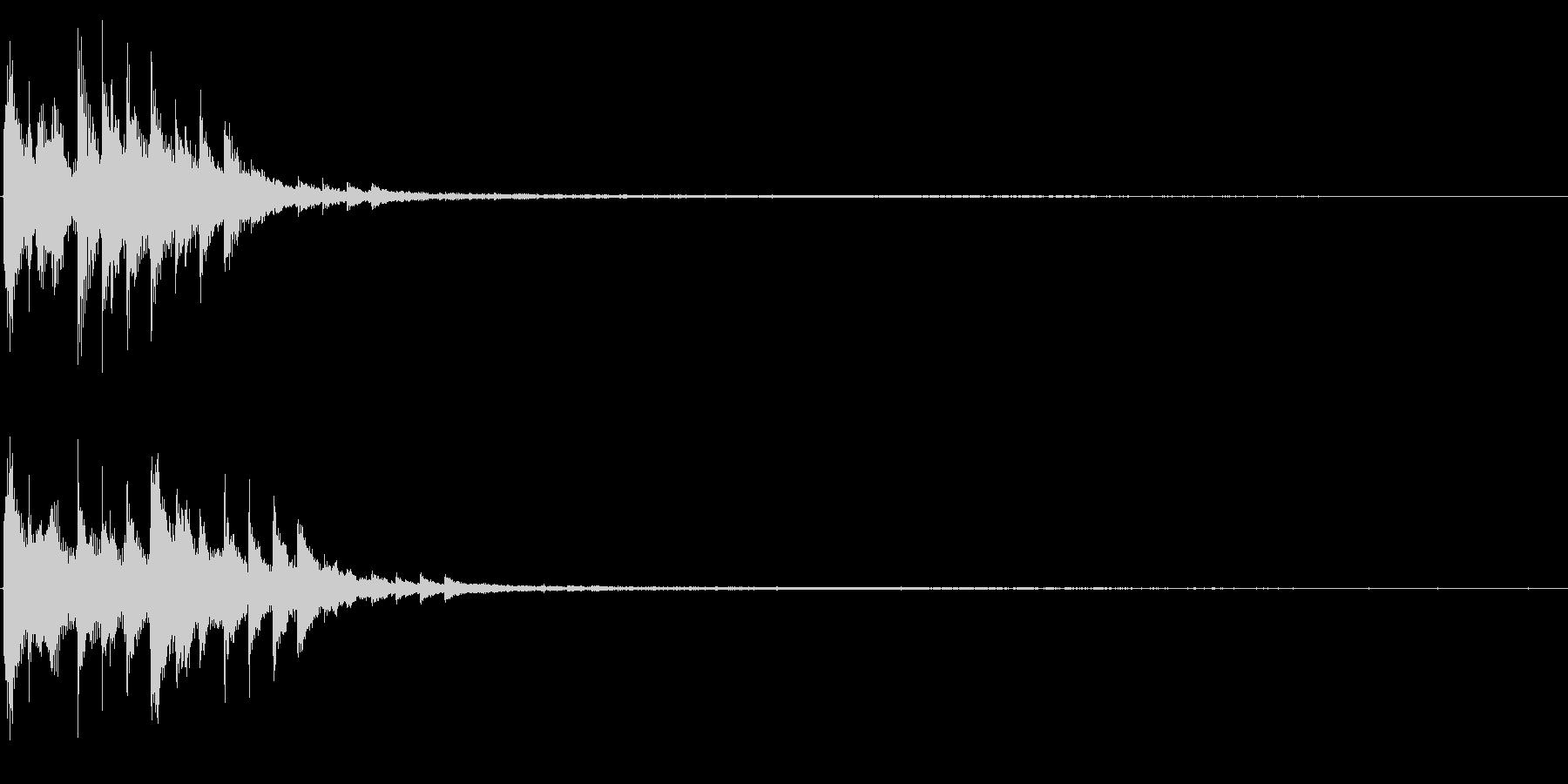 パネルオープン 情報公開 アイテムゲットの未再生の波形