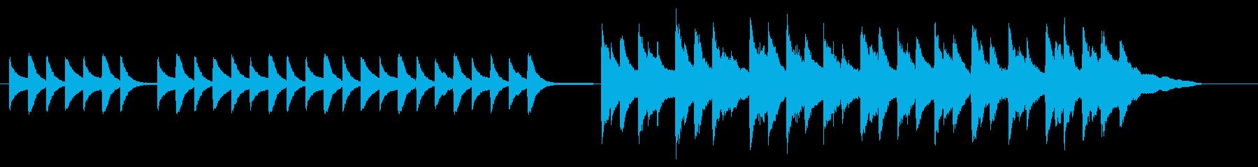 青春映画の微妙な距離感を表現したピアノ曲の再生済みの波形