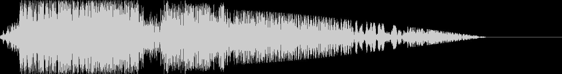 ロボット_ガショイーン_中型サイズの足音の未再生の波形