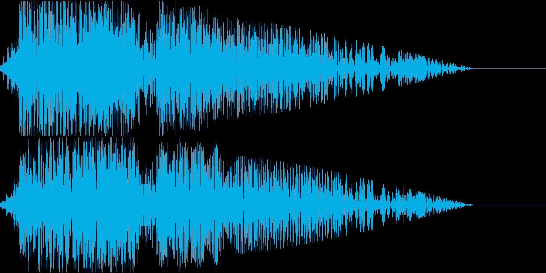 ロボット_ガショイーン_中型サイズの足音の再生済みの波形
