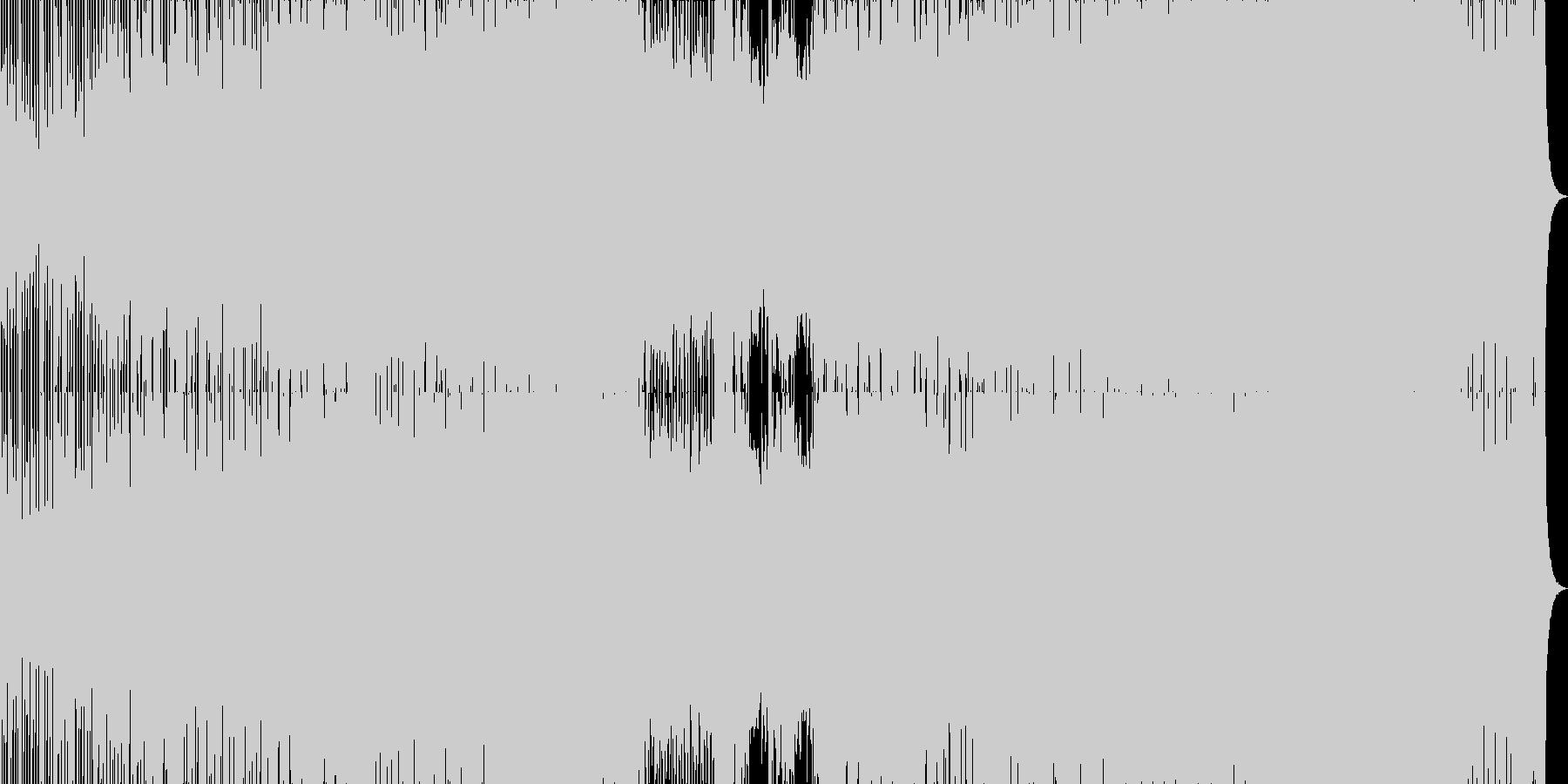 エモーショナルなハウス・トランスサウンドの未再生の波形