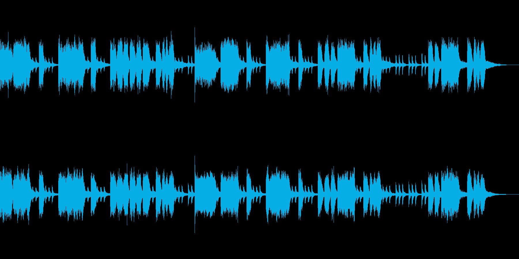 テーマ「おばけ屋敷」20秒の再生済みの波形