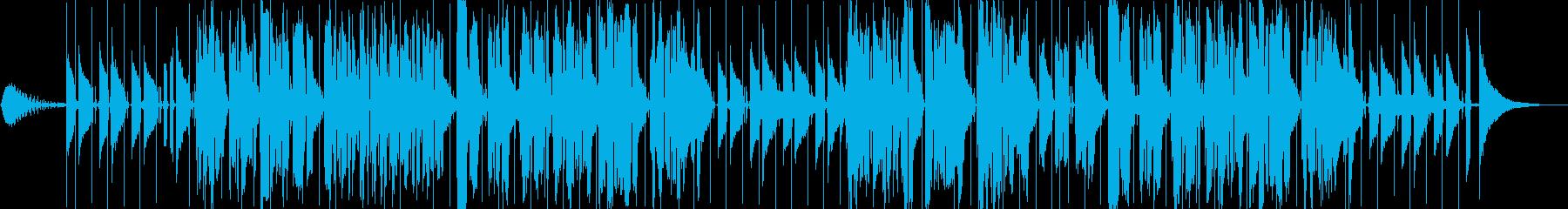 ほのぼのとした雰囲気の弾き語りの再生済みの波形
