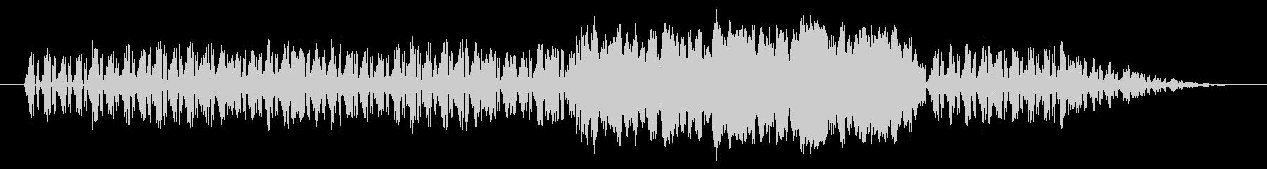 ノスタルジックなオルガン(白黒映画)の未再生の波形