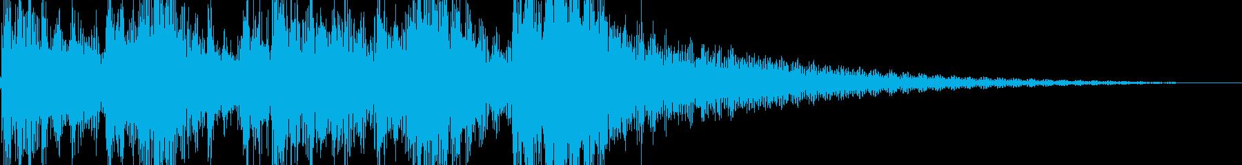 和風のジングルの再生済みの波形