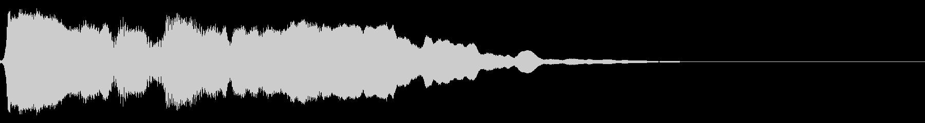 和風 篠笛の 切り掛け用ジングル1の未再生の波形