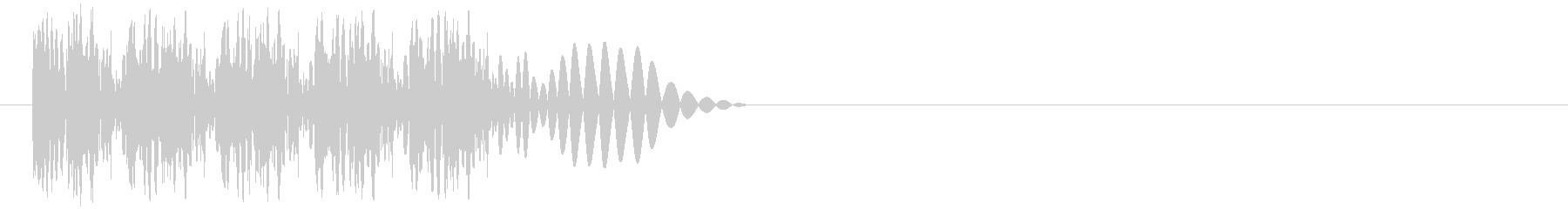 ビュビュビュビュ…(弾発射・連射・高速)の未再生の波形