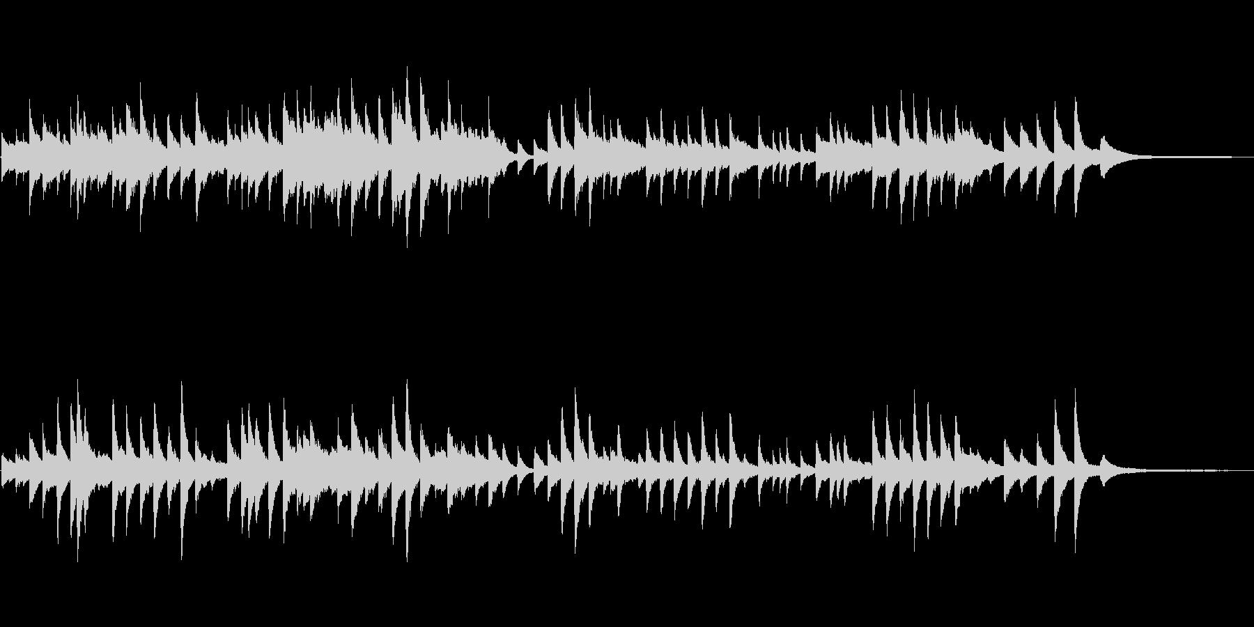 童謡「たなばたさま」ピアノソロの未再生の波形