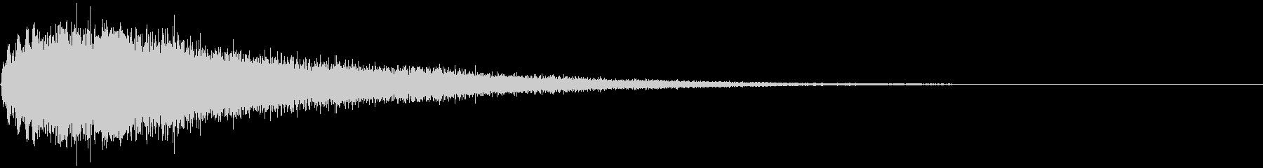 【ホラー】シンバルの音_ジャーン!_04の未再生の波形