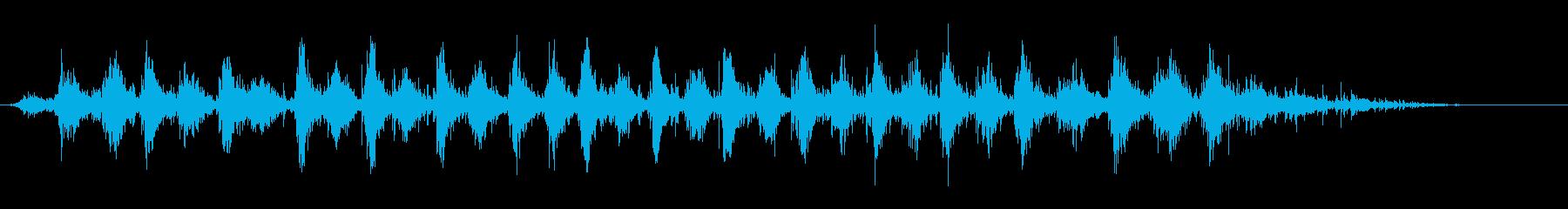 赤ちゃんのおもちゃのガラガラの再生済みの波形