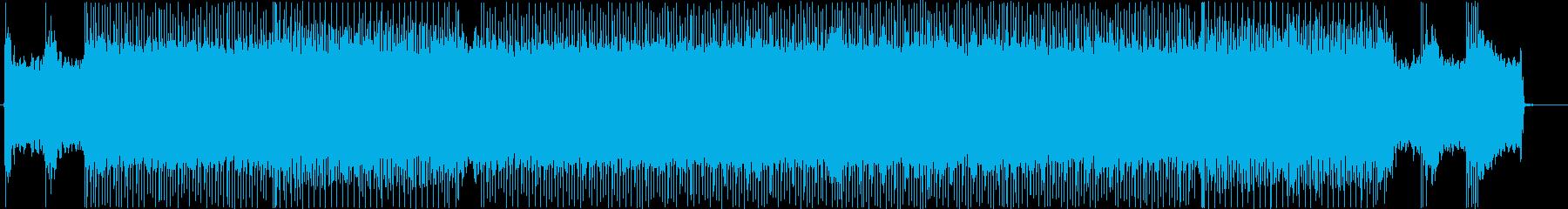 バトルやレースに合う疾走系メタルBGMの再生済みの波形