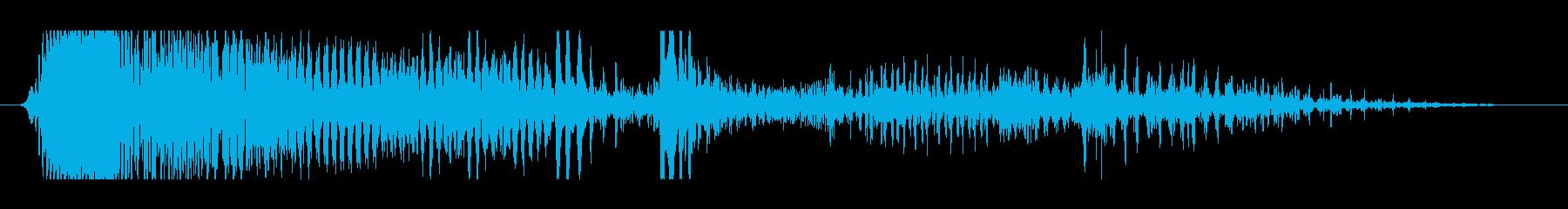グォォォォォォォォの再生済みの波形