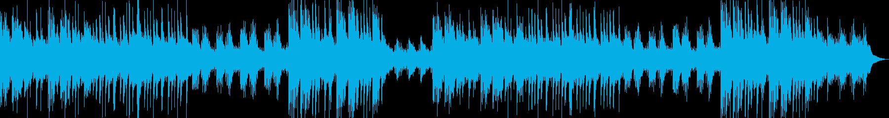 琴、ピアノで優しく静かな和風BGMの再生済みの波形