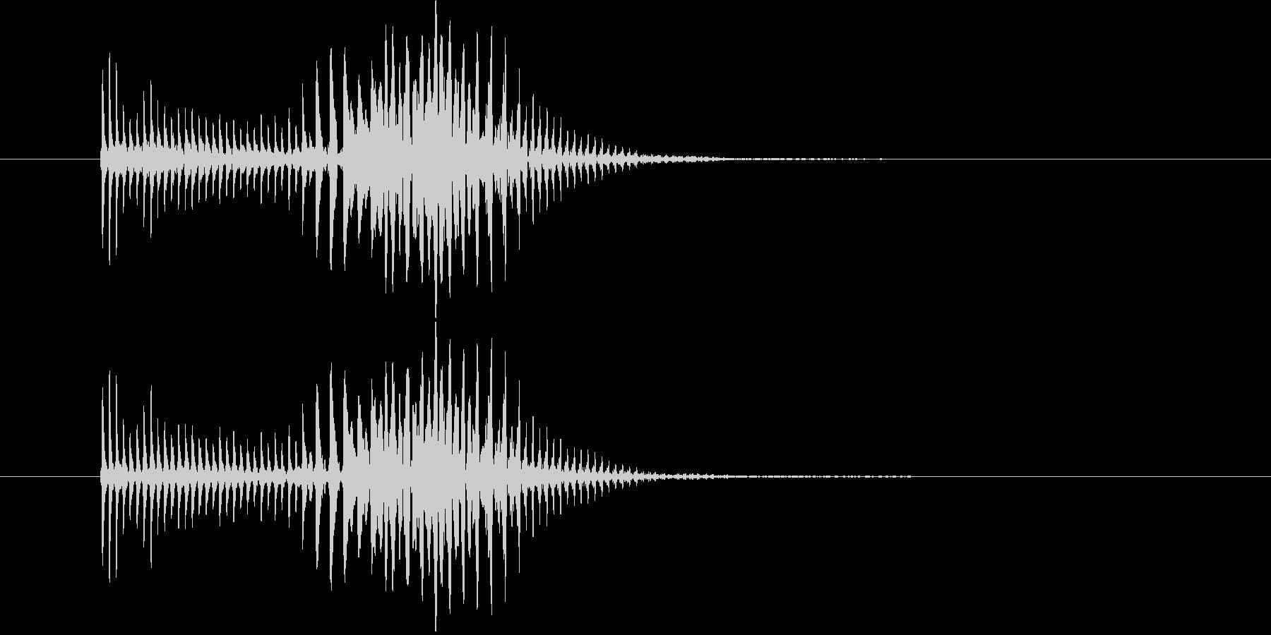 パーカッション 口ハープ21の未再生の波形