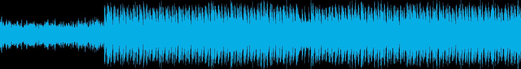 温泉のような温かいアシッドBGMの再生済みの波形