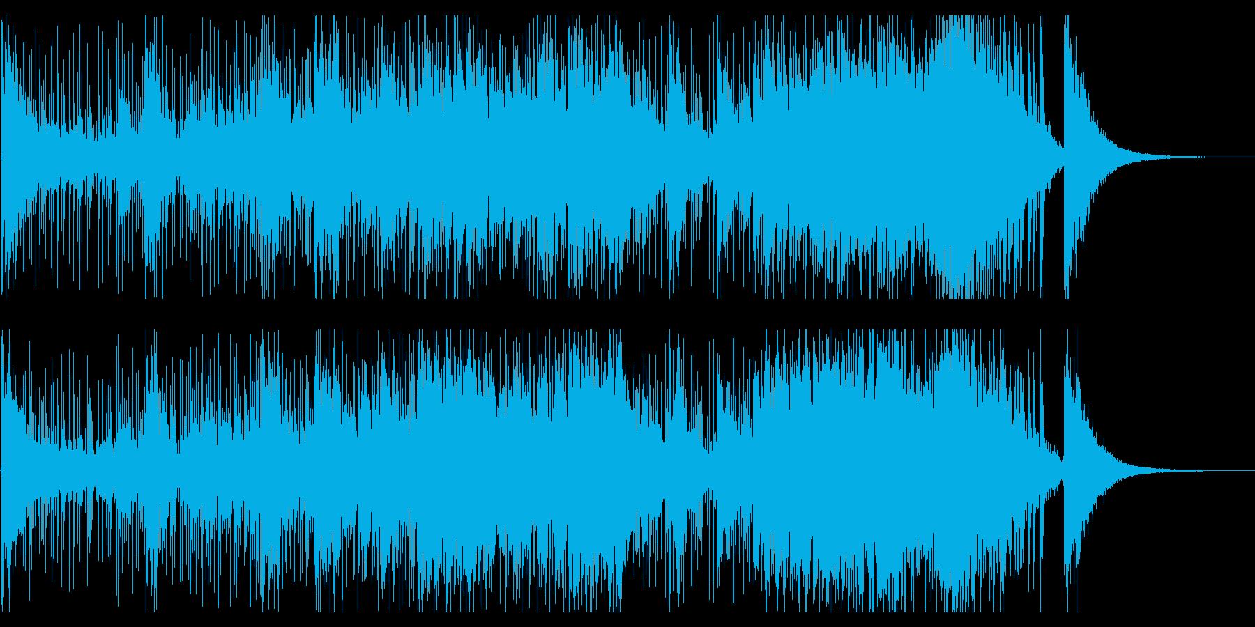 和太鼓やドラによる激しいリズムのみの音楽の再生済みの波形