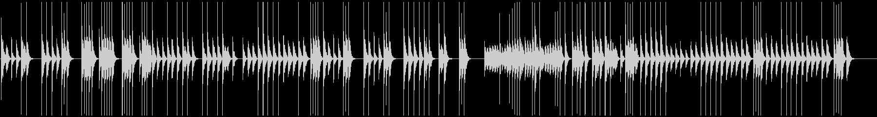 映像向ほのぼのと温かい木琴で素朴懐かしいの未再生の波形
