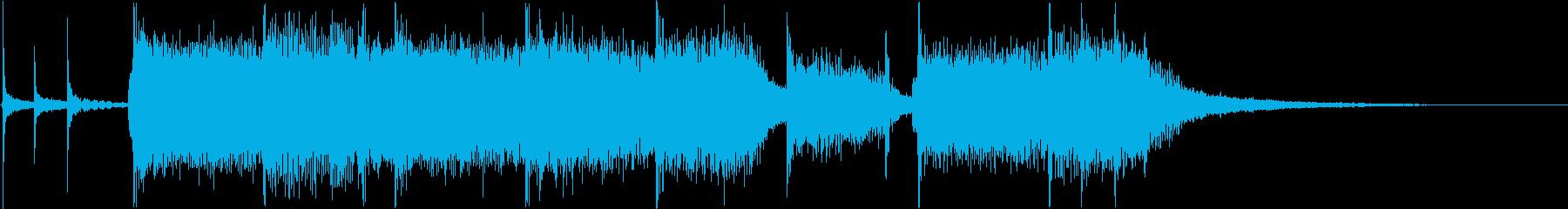恐ろしい・強いハロウィン風のメタルの再生済みの波形