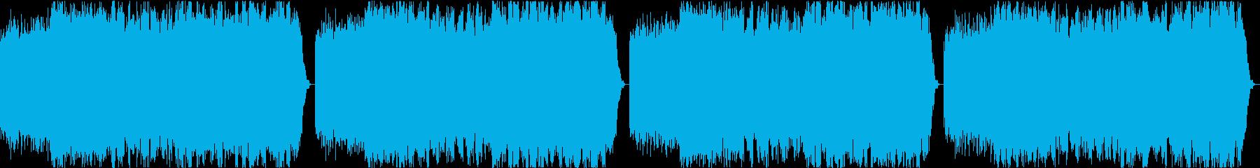 オルゴールを使った癒しのループ曲の再生済みの波形