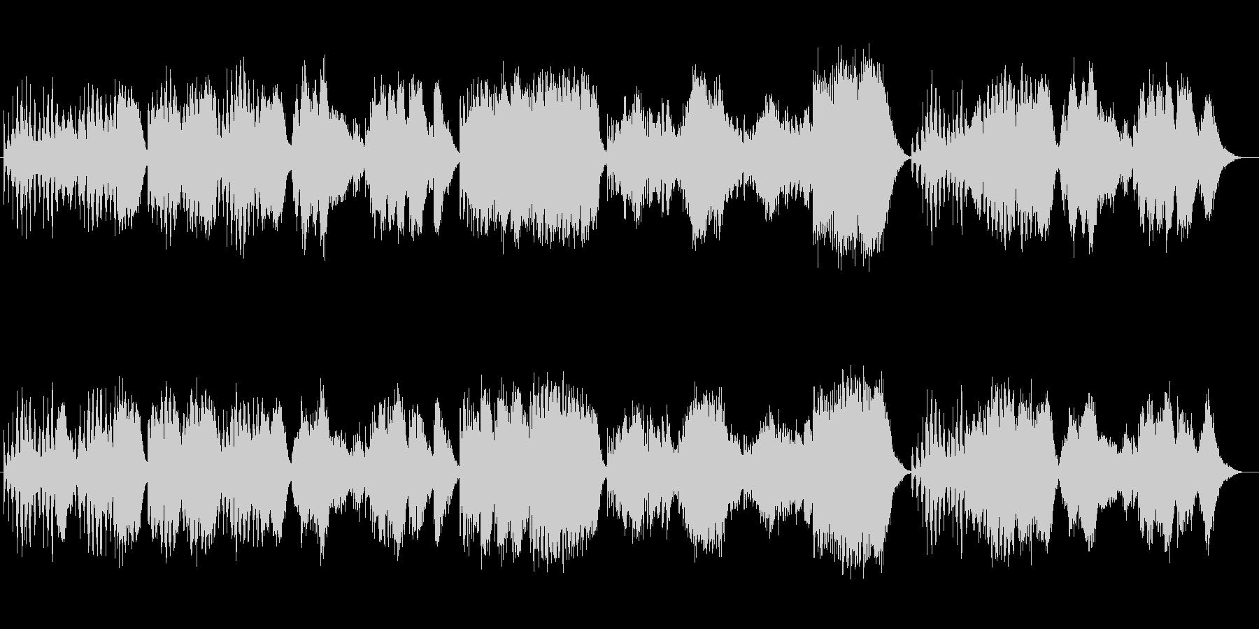 シンセのオーケストラが奏でる組曲の未再生の波形