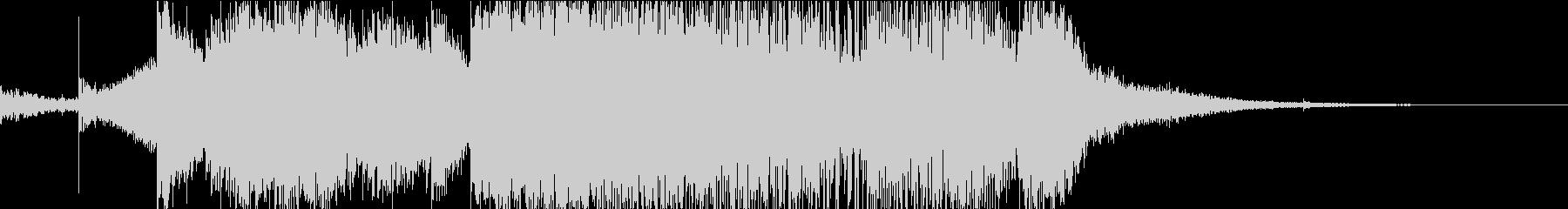 電子音とピアノのカッコいいオープニングの未再生の波形