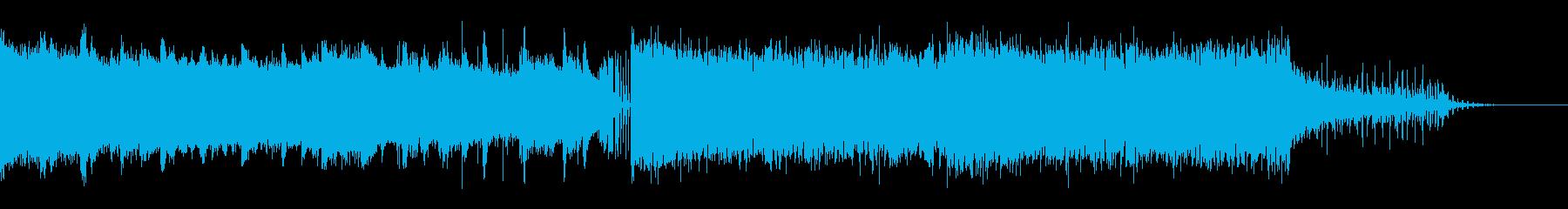 【動画・配信向け】覚えやすいテクノポップの再生済みの波形