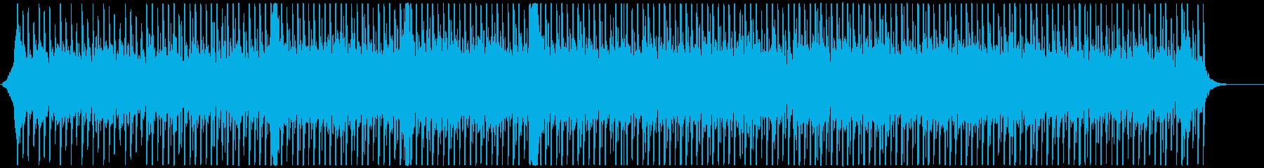 クリーンで爽やかな4つ打ちのコーポレートの再生済みの波形