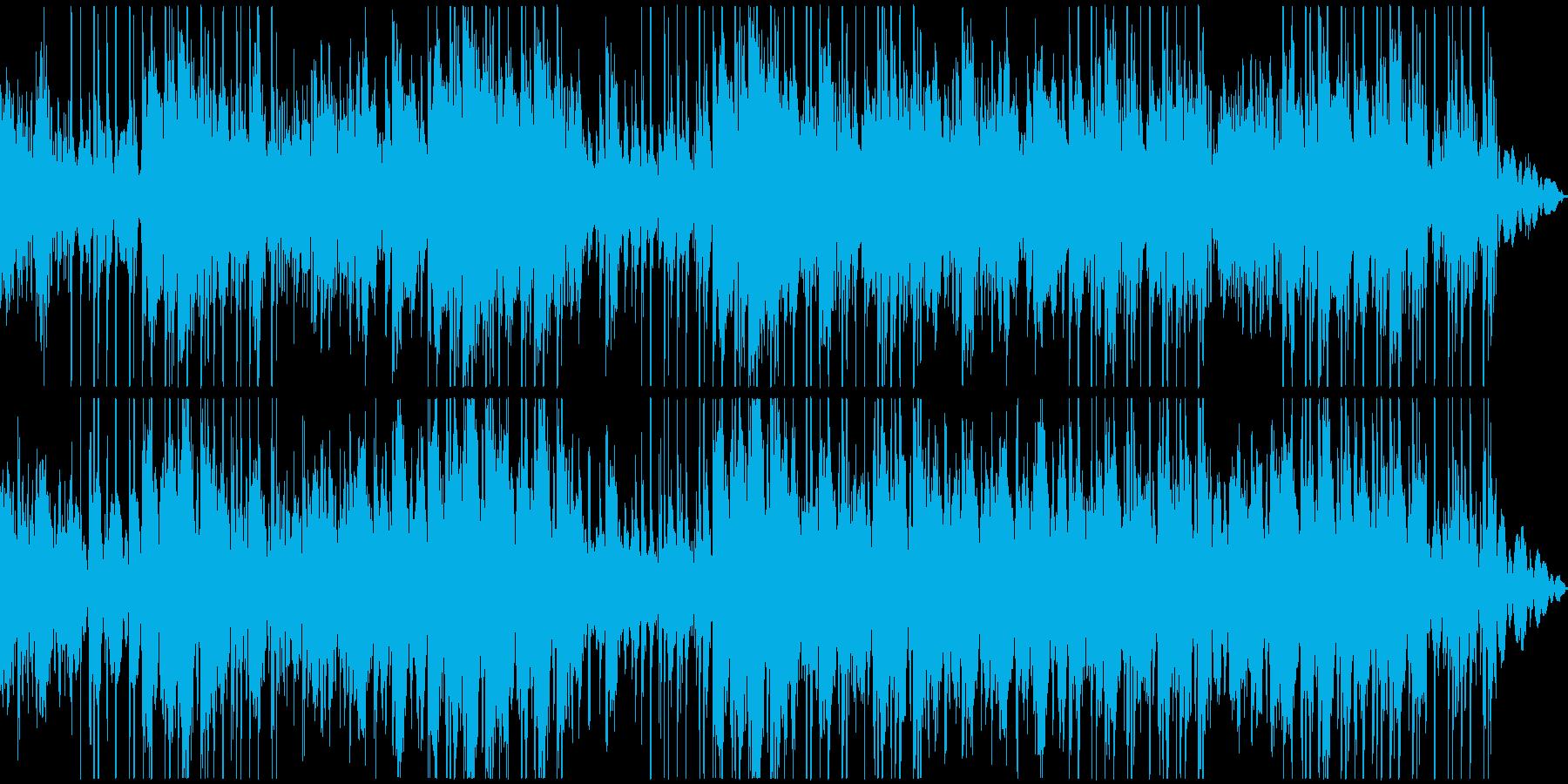 暗いイメージが続くBGMの再生済みの波形