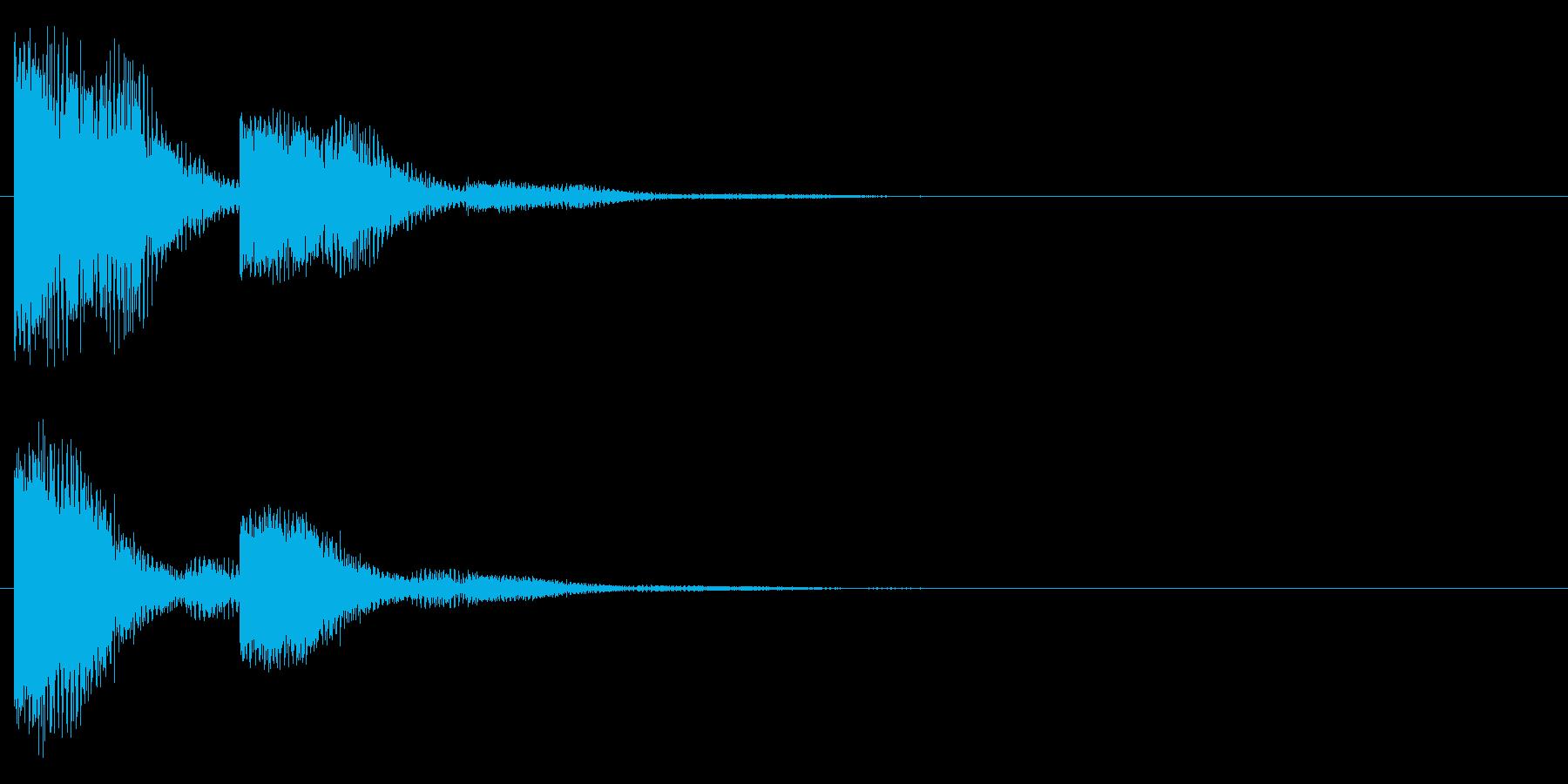 クワン・・・(響き有)の再生済みの波形