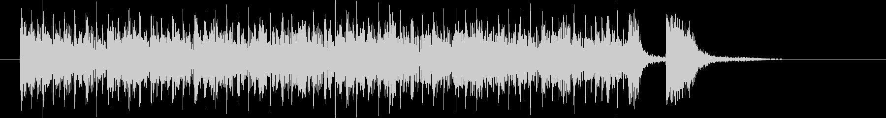 うねるベースと躍動感あるドラムのハウスの未再生の波形