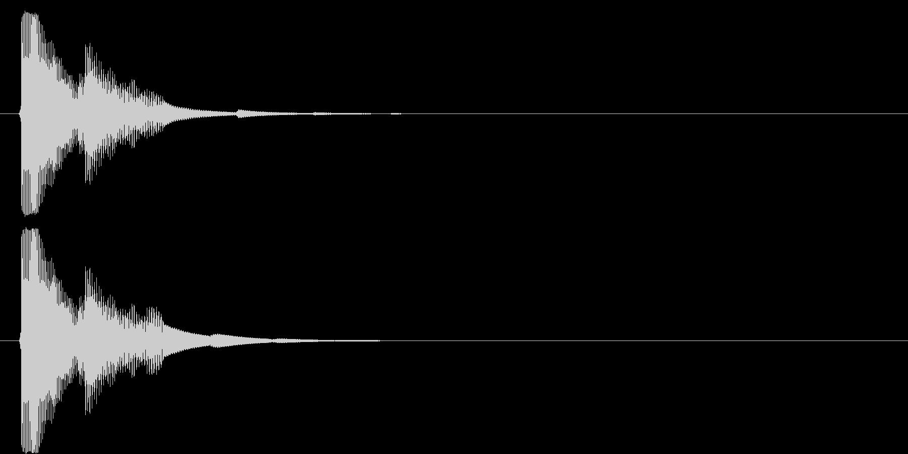 決定音4の未再生の波形
