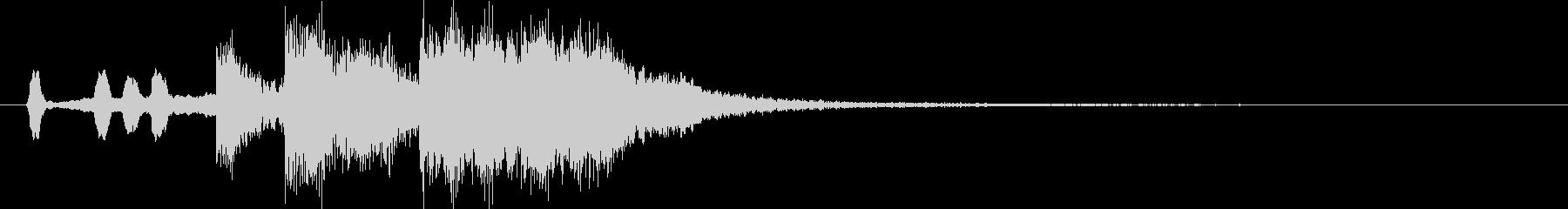 短めのブラス系ファンファーレの未再生の波形