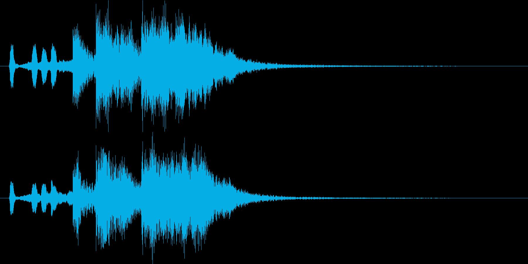 短めのブラス系ファンファーレの再生済みの波形