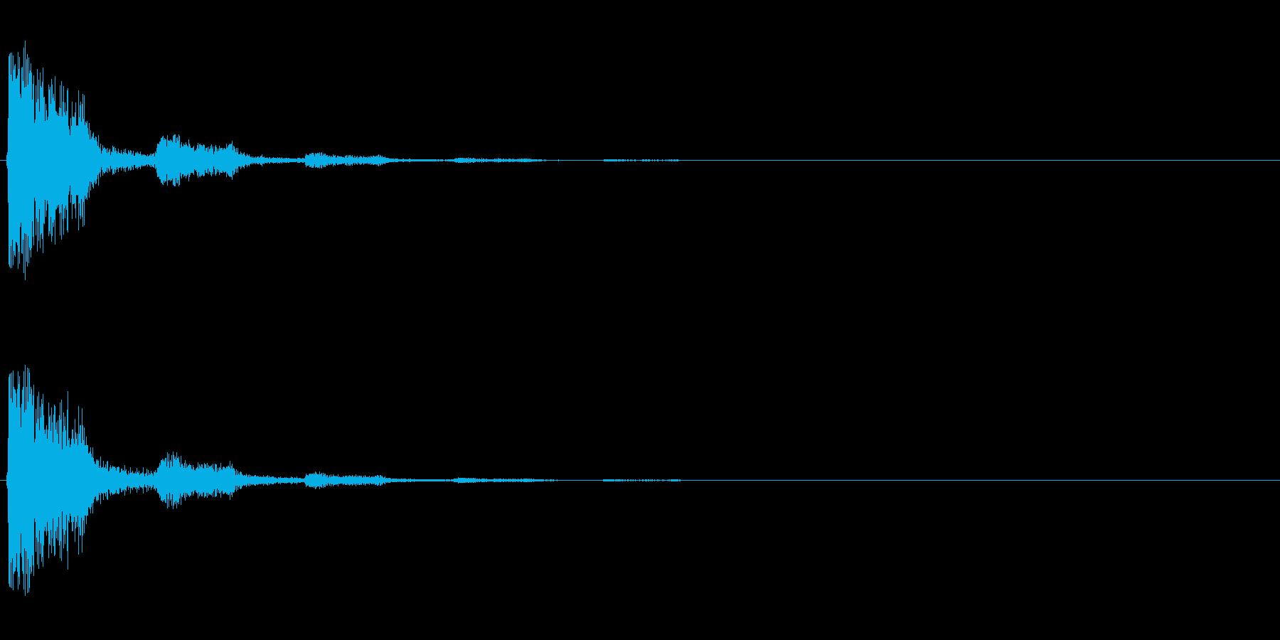 【打撃02-2】の再生済みの波形