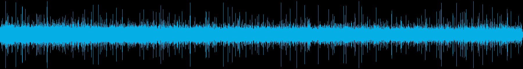軒下の雨の音の再生済みの波形