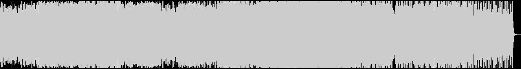 アグレッシブなミニマルテクノの未再生の波形
