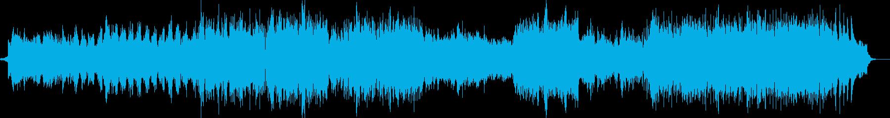 雪や氷イメージ ピアノエレクトロBGMの再生済みの波形