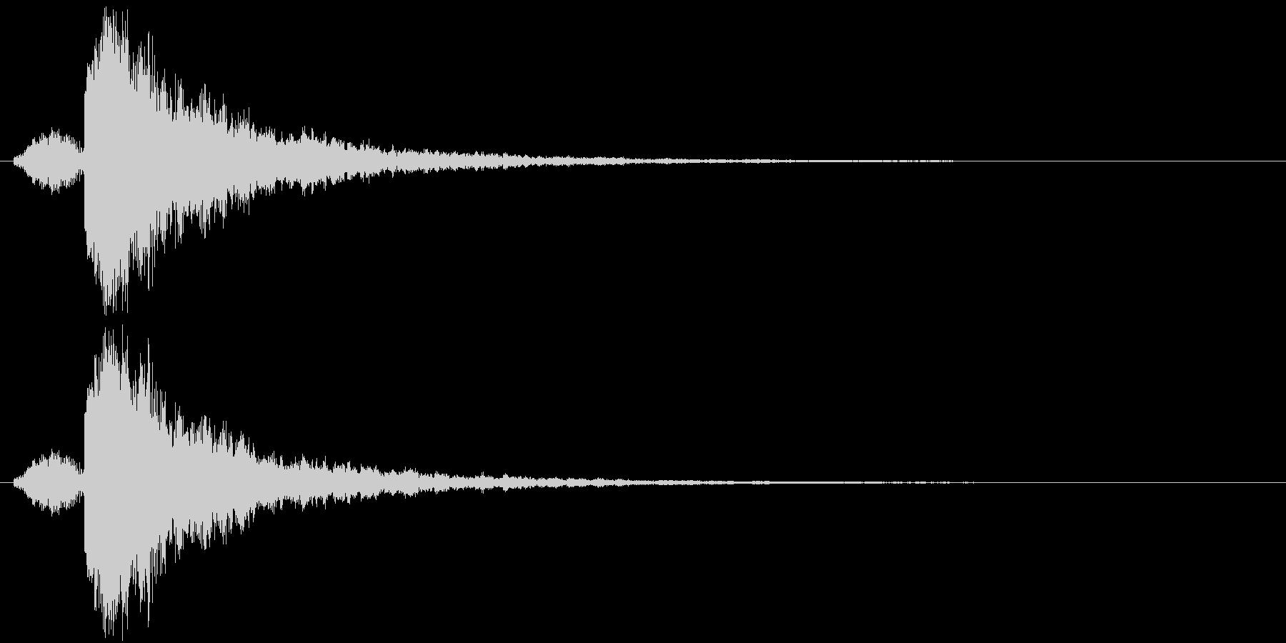 シャキーン 衝撃 金属音 定番の未再生の波形